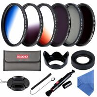 Beschoi 52mm Lens Filter CPL ND4 ND8 Graduated Color Accessory Kit for DSLR Lens