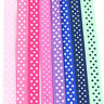 5 METRES POLKA DOT 10mm GROSGRAIN RIBBON *8 COLOURS CRAFT SPOTTY CARDMAKING ARTY