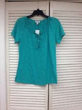 Fashion Bug, SS Green Pullover Top, Sz. Small, NWT