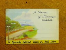 A Souvenir of Picturesque Goulburn - c.1940s, 12 colour photos