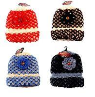 Wholesale Lot of 12 Ladies Crochet Knit Hat With Rhinestone Stocking Stuffer