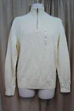 Tommy Hilfiger hombre Jersey talla S Sólido semilla Perla media cremallera