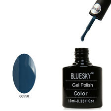 Bluesky 40558 Denim Blu-UV LED Gel Immersione OFF Nail Polish 10ml