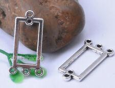 20pcs tibetan silver earring connectors charm findings 22x12mm B739