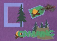 CAMPING  Scrapbooking ~The Purple Butterfly~ scrapbook cards