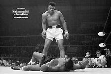 MUHAMMAD ALI v SONNY LISTON PHANTOM PUNCH KNOCKOUT FAMOUS RARE BOXING POSTER