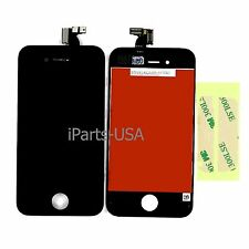 USA Digitizer +LCD Display Screen Assembly for Apple iPhone 4 Black CDMA + GLUE