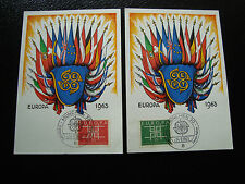 ALLEMAGNE - 2 cartes 14/9/63 - (europa) - (cy2) (A)