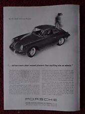 1963 Print Ad PORSCHE Sports Car Automobile ~ Sheer Sensual Pleasure on Wheels