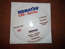 KOMATSU WHEEL LOADERS SERVICE SHOP REPAIR MANUAL CD