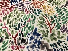 Clarence House Abstract Contemporary Print Fabric- Sole Original 0.45 yd 34953-1