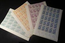 FEUILLE SHEET SÉRIE DES SAISONS N°859/862 x25 1949 NEUF ** MNH COTE 325€