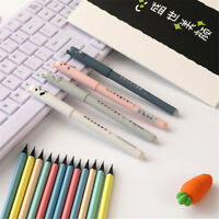 2Pcs/Set 0.35mm Cute Cartoon Gel Pens Blue Ink Writing Pen Kawaii Stationery Hot