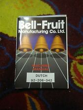 bell fruit dutch fruit machine technical awp manual treble top