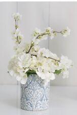 Blue & White Hamptons style Vase/Flower pot/Ceramic vase/Hamptons Coastal style