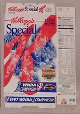 1997 WNBA CHAMPIONSHIP HOUSTON COMETS CEREAL BOX