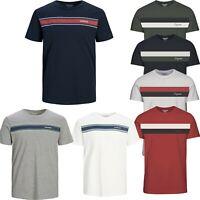 Jack and Jones T Shirt Mens Stripe Crew Neck Short Sleeve Casual  Tops Shipley