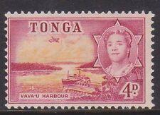 (K39-84) 1953 Tonga 4d red &yellow VAULOU harbour MH