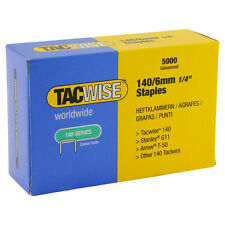 Tacwise STAPLES Galvanised 140/6mm Light Upholstery Gardening others 5000pcs
