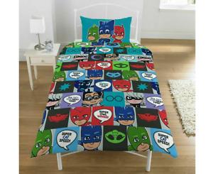 PJ Masks Reversible Single Bed Kids Quilt Cover Set