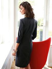 Basler Jersey Dress With 3/4-Length Sleeves UK Size 14 Black TD075 MM 13