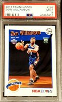 2019 Panini Hoops 296 Zion Williamson ROOKIE RC PSA 9 MINT TRIBUTE PELICANS
