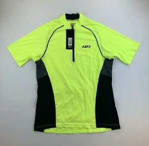 Louis Garneau Grand Tour Cycling Jersey Size Small Neon Yellow New