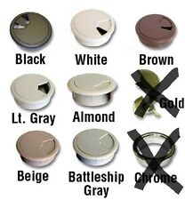 """5PC CUSTOM ACCENTS 2"""" DIAMETER CABLE HOLE GROMMETS 3PC ADJUSTABLE COVER 1"""" DEPTH"""