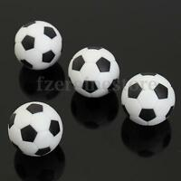 4Pcs 35mm Black White Plastic Football Fussball BALLS For Table Football new