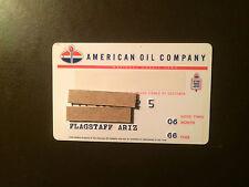 American Oil Company 1966 Vintage Collectors Credit Card - Flagstaff, Arizona