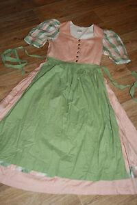 KL4639 @ oldschool Dirndl Schürze @ Miederdirndl @ Vintage Trachtenkleid 36-38
