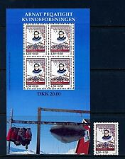 Greenland #B23 & #23a (Gr378) complete 1998 Women' Society issue, Mnh, Vf