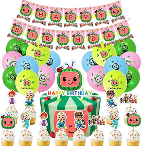 Cocomelon Birthday Party Supplies For Kids, Cocomelon Party Decorations Includes