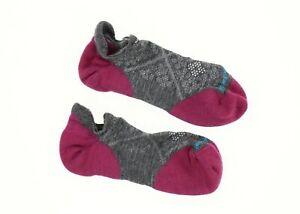 Smartwool 249325 Womens Micro No Show Socks Medium Gray Size Large