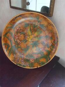 "Raymond Waites Designer 10"" Plate Bird Butterfly Warm Brown Display Wall Hanging"