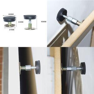 2x Adjustable Threaded Bed Frame Anti-Shake Easy Install Tool Headboard Stopper