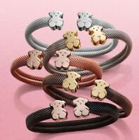 2019 New Teddy Bear Bracelet Mesh Stainless Steel Bear Bracelet Jewelry Gift