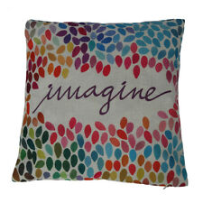 Print Square Cotton Linen Decor Throw Pillow Case Cushion Cover Colorful Im N6G5