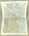 Antique Map of Central Germany Berlin Bavaria Hannover Westphalia Bohemia 1893