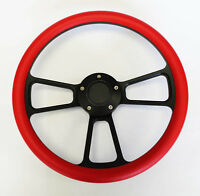 """C10 C20 C30 Blazer Pick Up Red on Black Spokes Steering Wheel 14"""" Very Nice"""