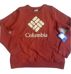 Columbia Long Sleeve Crew Neck Sweatshirt Womens Size Medium Orange NWT