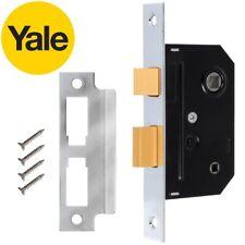 SECURIT S1834 63mm BATHROOM DOOR BRASS PLATED LOCK WITH FIXINGS