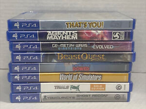 Wholesale Lot Of 8 New PS4 Games * Ghost Recon, Trials Rising, Ghost Recon PLUS