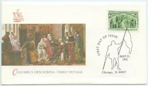 1992 FDC, $3.00 COLUMBIAN ISSUE
