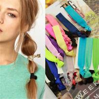 6X Simple Women Knotted Elastic Hair Rope Ponytail Holder Bracelets Hair Tie Set