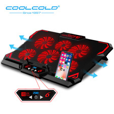 COOLCOLD Gaming Laptop Cooler Notebook Cooling Pad 6 LED Fans for 15.6 or less