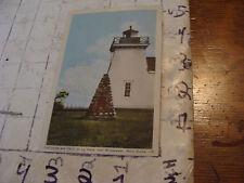 Orig>Vint>post card<lighthouse & cairn at la have, nova scotia 1949,