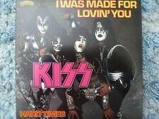"""KISS 45 RPM 7"""" - I Was Made For Lovin' You UNPLAYED W/GERMANY SLEEVE"""