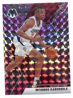2019-20 Panini Mosaic #218 Mfiondu Kabengele PINK rookie card Clippers