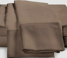 (2) Luxor Style Bamboo Pillowcases 300 TC ~ Taupe ~ Standard **NEW**